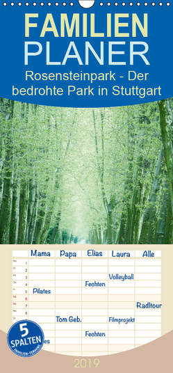 Rosensteinpark – Der bedrohte Park in Stuttgart – Familienplaner hoch (Wandkalender 2019 , 21 cm x 45 cm, hoch) von Allgaier,  Herb