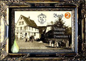 """Röslesland 2: """"Historische Ortsansichten 1"""" – Foto Plieningen, Hohenheim, Birkach. Bebildert mit GPS Standortangaben von Lunke,  Oerny B"""