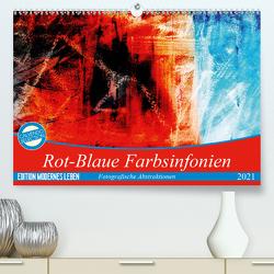 Rot-Blaue Farbsinfonien (Premium, hochwertiger DIN A2 Wandkalender 2021, Kunstdruck in Hochglanz) von Jäger,  Anette