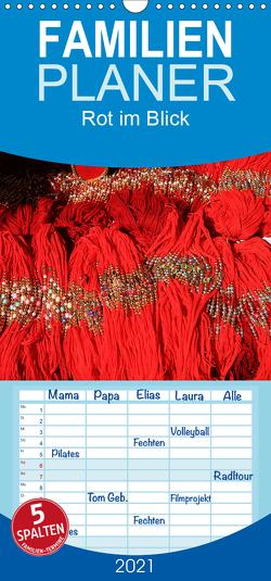 Rot im Blick – Familienplaner hoch (Wandkalender 2021 , 21 cm x 45 cm, hoch) von Werner Altner,  Dr.