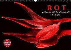Rot. Lebenskraft, Leidenschaft und Wille (Wandkalender 2019 DIN A3 quer) von Stanzer,  Elisabeth