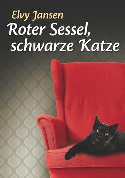 Roter Sessel, schwarze Katze von Jansen,  Elvy