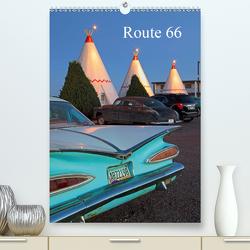 Route 66 (Premium, hochwertiger DIN A2 Wandkalender 2021, Kunstdruck in Hochglanz) von Grosskopf,  Rainer