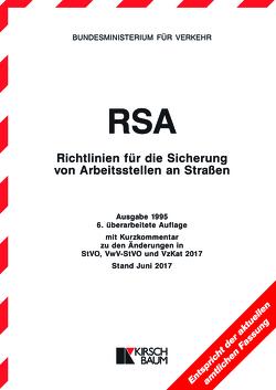 RSA-Textausgabe – Richtlinien für die Sicherung von Arbeitsstellen an Straßen