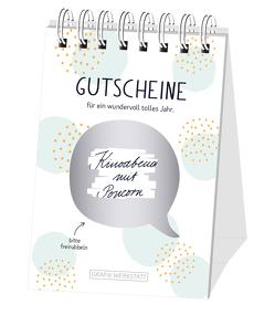 """Rubbel-Tischkalender """"Gutscheine"""""""
