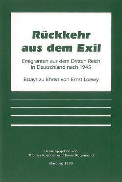 Rückkehr aus dem Exil von Koebner,  Thomas, Rotermund,  Erwin
