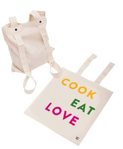 Rucksacktasche: Cook Eat Love
