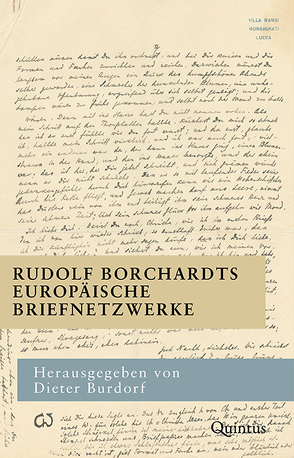 Rudolf Borchardts europäische Briefnetzwerke von Burdorf,  Dieter