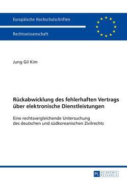 Rückabwicklung des fehlerhaften Vertrags über elektronische Dienstleistungen von Kim,  Jung Gil