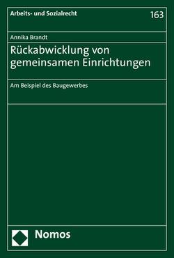 Rückabwicklung von gemeinsamen Einrichtungen von Brandt,  Annika