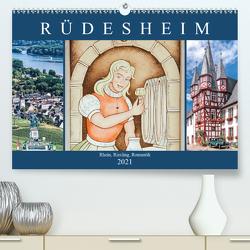 Rüdesheim – Rhein, Riesling, Romantik (Premium, hochwertiger DIN A2 Wandkalender 2021, Kunstdruck in Hochglanz) von Meyer,  Dieter