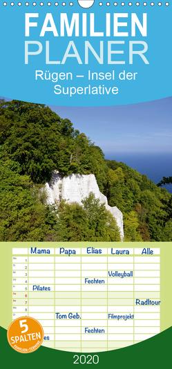 Rügen – Insel der Superlative – Familienplaner hoch (Wandkalender 2020 , 21 cm x 45 cm, hoch) von Loebus,  Eberhard