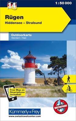 Rügen Nr. 14 Outdoorkarte Deutschland 1:50 000