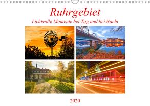 Ruhrgebiet – Lichtvolle Momente bei Tag und bei Nacht (Wandkalender 2020 DIN A3 quer) von Hackstein,  Bettina