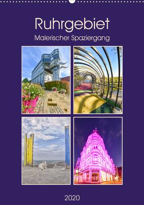 Ruhrgebiet – Malerischer Spaziergang (Wandkalender 2020 DIN A2 hoch) von Hackstein,  Bettina