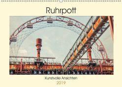 Ruhrpott – Kunstvolle Ansichten (Wandkalender 2019 DIN A2 quer) von Adams,  Heribert
