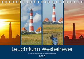 Rund um den Leuchtturm Westerheversand (Tischkalender 2020 DIN A5 quer) von Schulz,  Olaf