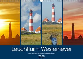 Rund um den Leuchtturm Westerheversand (Wandkalender 2020 DIN A3 quer) von Schulz,  Olaf