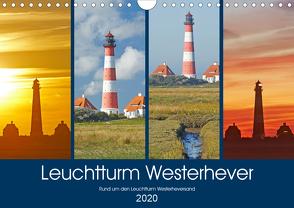 Rund um den Leuchtturm Westerheversand (Wandkalender 2020 DIN A4 quer) von Schulz,  Olaf
