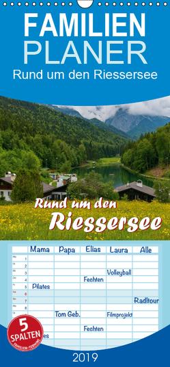 Rund um den Riessersee – Familienplaner hoch (Wandkalender 2019 , 21 cm x 45 cm, hoch) von Wilczek,  Dieter-M.