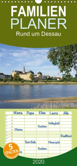 rund um Dessau – Familienplaner hoch (Wandkalender 2020 , 21 cm x 45 cm, hoch) von Gronostay,  Norbert