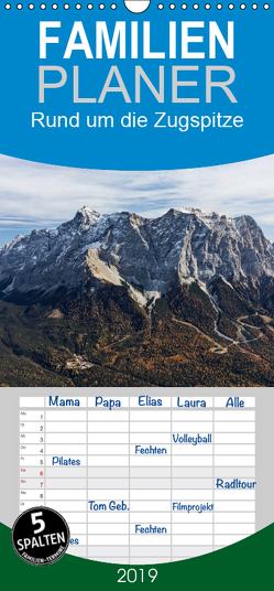 Rund um die Zugspitze – Familienplaner hoch (Wandkalender 2019 , 21 cm x 45 cm, hoch) von Vonzin,  Andreas