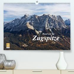 Rund um die Zugspitze (Premium, hochwertiger DIN A2 Wandkalender 2021, Kunstdruck in Hochglanz) von Vonzin,  Andreas