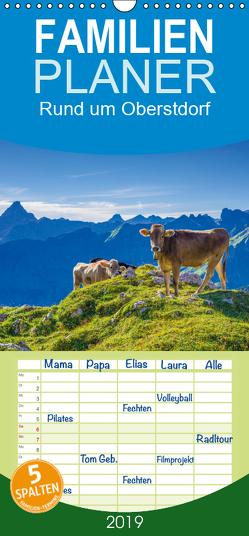Rund um Oberstdorf – Familienplaner hoch (Wandkalender 2019 , 21 cm x 45 cm, hoch) von G. Allgöwer,  Walter