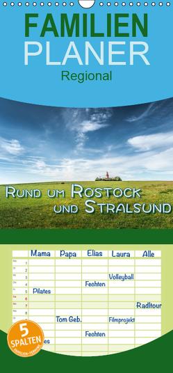 Rund um Rostock und Stralsund – Familienplaner hoch (Wandkalender 2019 , 21 cm x 45 cm, hoch) von Gödecke,  Dieter