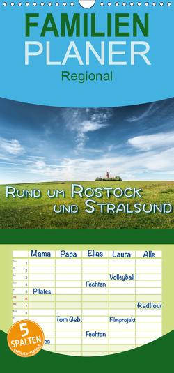 Rund um Rostock und Stralsund – Familienplaner hoch (Wandkalender 2021 , 21 cm x 45 cm, hoch) von Gödecke,  Dieter