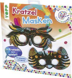Rundum Kunterbunt Kratzel-Masken-Set von frechverlag