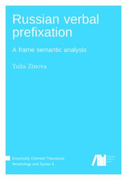 Russian verbal prefixation von Zinova,  Yulia