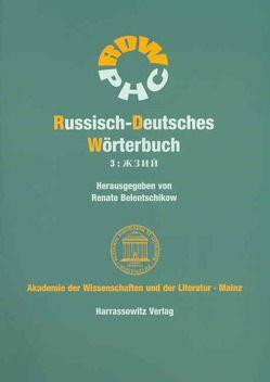 Russisch-Deutsches Wörterbuch (RDW) von Belentschikow,  Renate, Belentschikow,  Walentin, Handke,  Ella, Piperek,  Klaus, Scheller,  Andrea, Timmler,  Elisabeth
