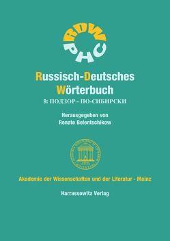 Russisch-Deutsches Wörterbuch (RDW) / Russisch-Deutsches Wörterbuch 9 von Belentschikow,  Renate