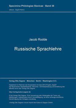 Russische Sprachlehre von Rodde,  Jacob