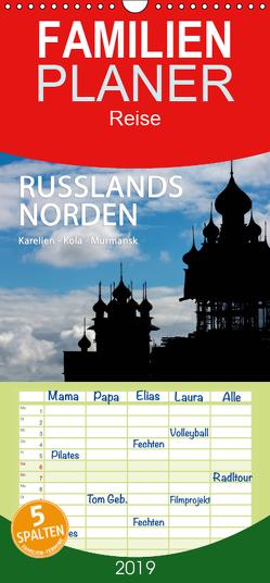Russlands Norden – Familienplaner hoch (Wandkalender 2019 , 21 cm x 45 cm, hoch) von www.sojombo.de