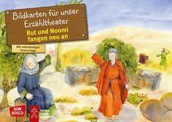 Rut und Noomi fangen neu an. Kamishibai Bildkartenset. von Brandt,  Susanne, Lefin,  Petra