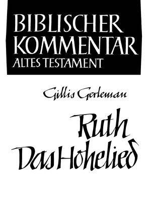 Ruth / Das Hohelied von Gerleman,  Gillis