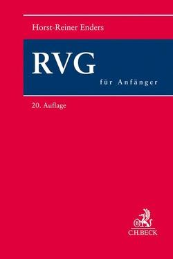 RVG für Anfänger von Enders,  Horst-Reiner