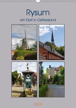 Rysum, ein Dorf in Ostfriesland (Wandkalender 2019 DIN A3 hoch) von Poetsch,  Rolf