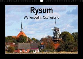 Rysum – Warfendorf in Ostfriesland (Wandkalender 2018 DIN A3 quer) von Poetsch,  Rolf