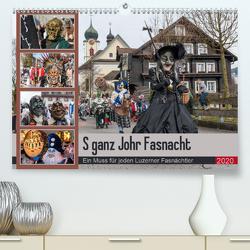 S ganz Johr FasnachtCH-Version (Premium, hochwertiger DIN A2 Wandkalender 2020, Kunstdruck in Hochglanz) von W. Saul,  Norbert