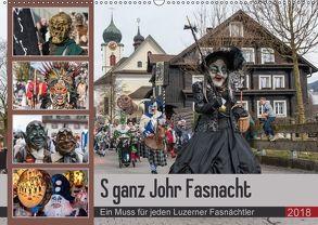 S ganz Johr FasnachtCH-Version (Wandkalender 2018 DIN A2 quer) von W. Saul,  Norbert