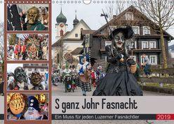 S ganz Johr FasnachtCH-Version (Wandkalender 2019 DIN A3 quer) von W. Saul,  Norbert