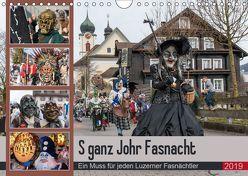 S ganz Johr FasnachtCH-Version (Wandkalender 2019 DIN A4 quer) von W. Saul,  Norbert