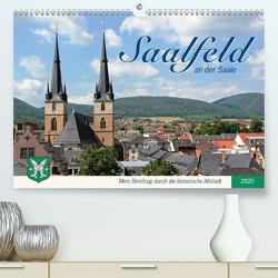Saalfeld an der Saale – mein Streifzug durch die historische Altstadt (Premium, hochwertiger DIN A2 Wandkalender 2020, Kunstdruck in Hochglanz) von Thiem-Eberitsch,  Jana