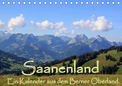 Saanenland. Ein Kalender aus dem Berner Oberland (Tischkalender 2019 DIN A5 quer) von FotografieKontor,  Utes