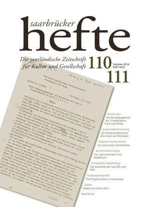 Saarbrücker Hefte 110/111 von Verein Saarbrücker Hefte e.V.