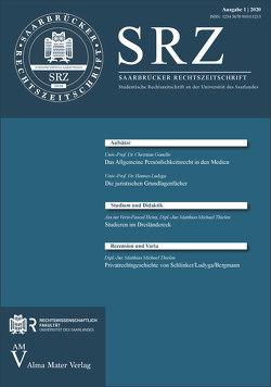 Saarbrücker Rechtszeitschrift von Heintz,  Veris-Pascal, Thielen,  Matthias Michael