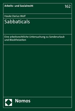 Sabbaticals von Wolf,  Hauke Darius